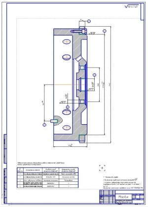 1.Ремонтный чертеж маховика двигателя (формат А1)