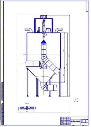 1.Общий вид сушильной распылительной установки (формат А1) для сушки молока и сливок