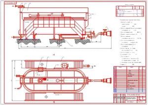 Чертеж общего вида модернизированной сыродельной ванны В2-ОСВ-10 для производства сычужного сыра (формат А1)