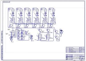 Чертеж технологической схемы шелушения гречихи и контроль крупы (формат А1)
