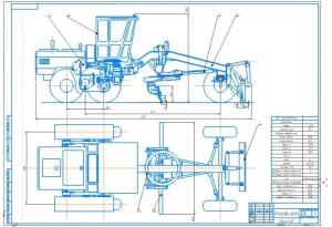 1.Чертеж общего вида среднего автогрейдера ДЗ-31-1 А1
