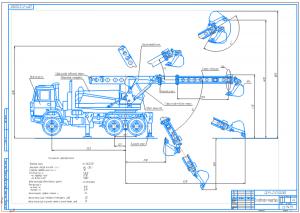 1.Общий вид экскаватора-планировка на базе грузового автомобиля А1