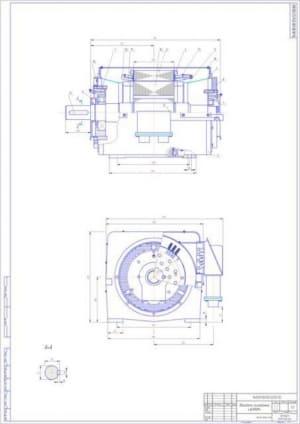 1.Чертеж сборочный двигателя асинхронного 4АН180М4 (формат А1)