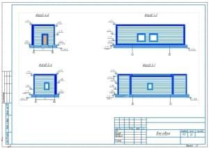 1.Общий вид здания весовой на формате А3