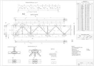 1.Чертеж геометрической схемы фермы с техническими требованиями: болты нормальной точности М20 из стали