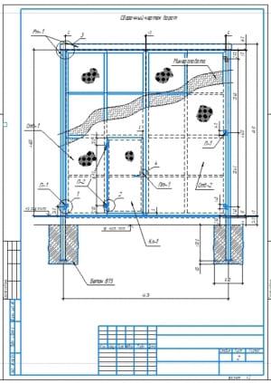 1.Сборочный чертеж гаражных ворот А3