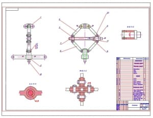 1.Чертеж общего вида механического съемника для съема с валов напрессованных на них деталей типа подшипников качения, шкивов и т.д. А1
