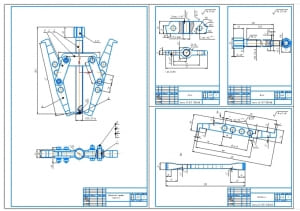 Сборочный чертеж съемника СУМ-204 с деталировкой (формат А1)