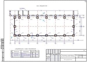 12.Чертеж плана фундаментов с указанными размерами и со спецификацией к плану фундаментов (формат А3)