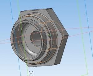 12.Модель гайки в 3D