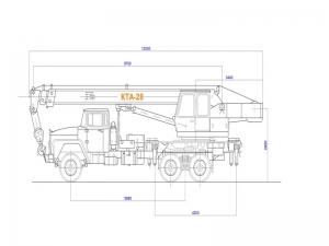Комплект чертежей общего вида гидравлического автокрана КТА-28