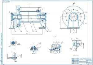 1.Сборочный чертеж устройства барабана на формате А1