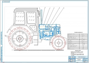1.Общий вид плазмореактора-очистителя на тракторе Беларус-1221 (на формате А1)