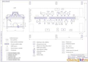 Чертеж планировки линии механической обработки (формат А1)