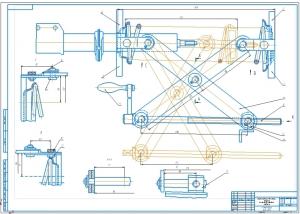 Сборочный чертеж приспособления для сборки пружины со стойкой передней подвески на формате А1