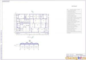 Компоновочный план Дзержинского МРЗ в разрезе (формат А1)