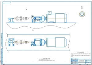 Сборочный чертёж на формате А1 устройства для восстановления шлицов на валах методом раздачи зубьев выполнен в масштабе 1:2
