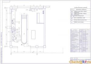 План ремонтной мастерской (формат А1)