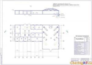 чертеже производственного корпуса изображен цех по ТО и ремонту