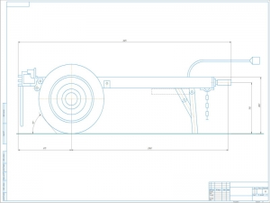 Чертёж общего вида одноосного прицепа-шасси модели ТАПЗ-755 с указанием размеров выполнен в масштабе 1:5 на формате А1
