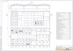 Проектирование производственного корпуса АТП (формат А1)