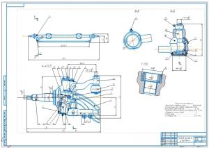 Сборочный чертеж А1 привода рулевого управления грузового автомобиля КамАЗ  с техническими условиями