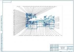 1.Кинематическая схема станка модели 1А62 А2