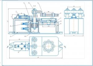 1.Чертеж общего вид кондуктора для сверления на А1