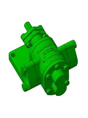 Чертеж 3D-модели шестерёнчатого насоса модификации НМШ 5-25-4,0/4Б-В-У2 для перекачки технических жидкостей, которые обладают смазывающими способностями