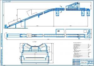 1.Общий вид ленточного конвейера для транспортировки бурого угля А1