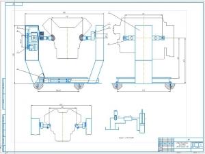 1.Чертеж общего вида стенда для ремонта автомобильных двигателей А1