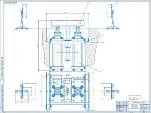 1.Чертеж общего вида стенда для проверки развал-схождение колес грузовых автомобилей А1