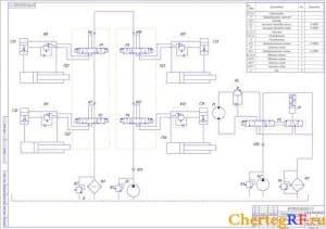 схема гидравлическая принципиальная (формат А1)