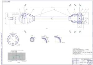 Сборочный чертеж привода передних колес (формат А1 )