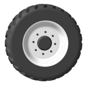 13.Рабочий чертеж детали колесо автомобиля грузового ЗИЛ-433440 в 3D формате