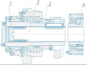 13.Рабочий чертеж шпинделя с позициями
