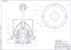 Сборочный чертеж рычаг управления в масштабе 2:1 (формат А1 )