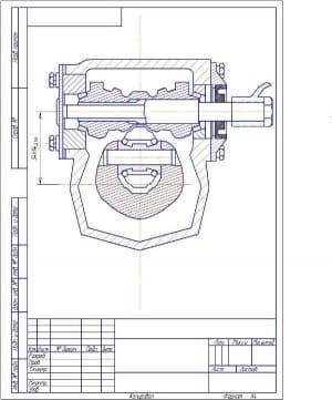 Чертеж рулевого механизма (формат А4 )