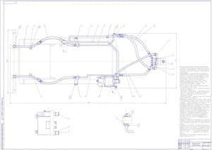Сборочный чертеж рулевого гидрообъемного управления в масштабе 1:2 (формат А1 )