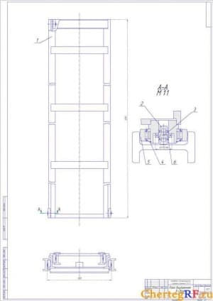 Схемагидравлическая электропогрузчика (формат А1)