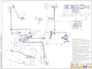 Чертеж сборочный привода тормозного механизма с техническими требованиями: * размеры для справок; при сборке поверхности внутренние ступицы деталей позиции и позиции все трущиеся в работе механизма поверхности смазать смазкой графитной УССА по ГОСТу 33