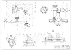 Сборочный чертеж системы подрессоривания бронеавтомобиля (формат А2)