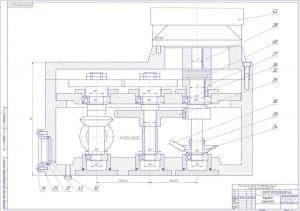 Сборочный чертеж коробки скоростей (формат А1 )