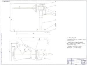 Сборочный чертеж стенда разборки/сборки редукторов с техническими требованиями