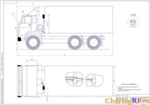 Чертеж общего вида автомобиля КАМАЗ-5320