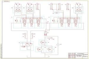 1.Чертеж схемы гидравлической принципиальной. На схеме отмечены условные обозначения, указанные отдельно в приложенной спецификации. (формат А1)