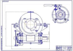 1.Чертеж вида сбоку механизма подъема груза крана-стрелы в масштабе 1:1 с указание посадок и размеров (формат А1)