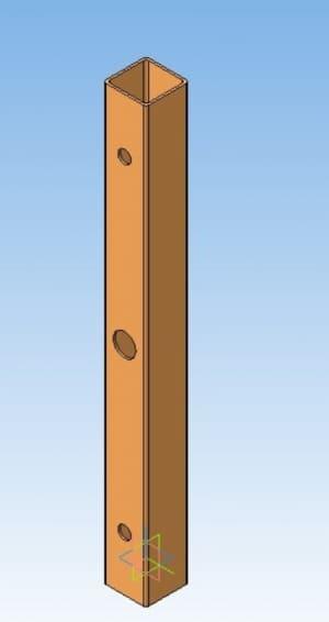 15.Моделирование балки стенда в 3D