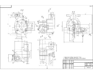 Чертеж масляного насоса двигателя автомобиля МАЗ 204