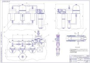 Представлен сборочный чертеж маслоочистительного блока (формат А1)
